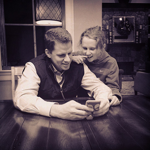 iPhone image - father and daughter bonding from photographer Abbe McCracken's Instagram 365
