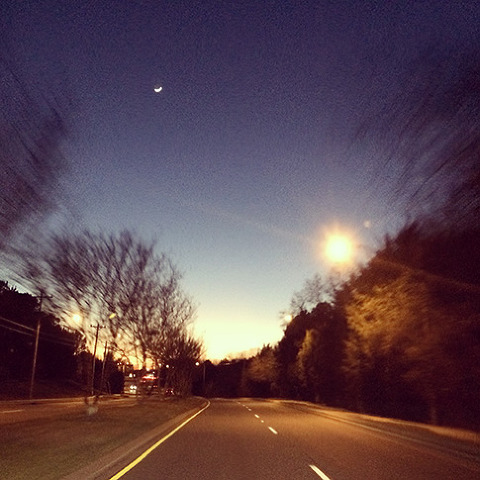 iPhone image - empty road with movement blur from photographer Abbe McCracken's Instagram 365