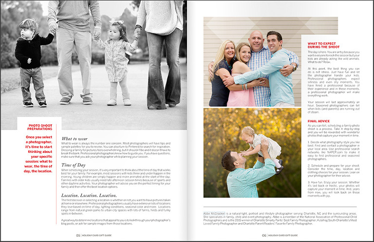 The Ultimate Guide to Holiday Cards - contributor Charlotte Family Photographer Abbe McCracken