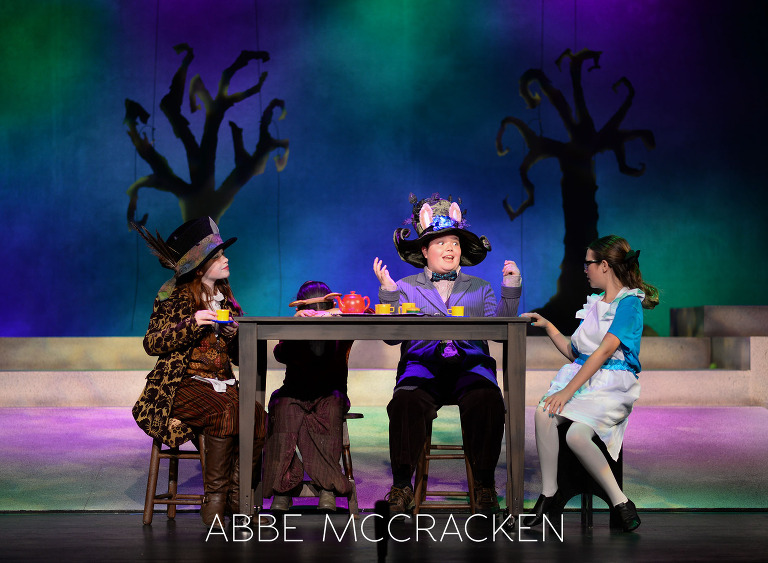 Youth Theater Photography - Alice in Wonderland, Matthews Playhouse of the Performing Arts - Matthews, NC