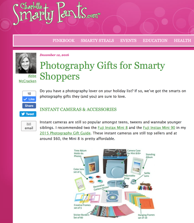 Photography Gifts for Smarty Shoppers