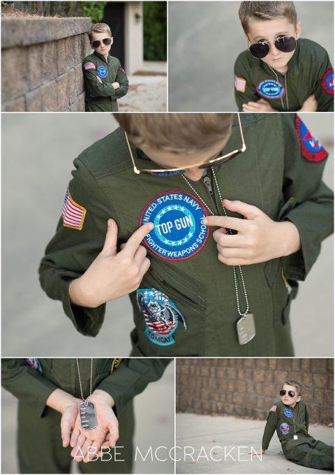 Halloween pictures - Child in Top Gun's Maverick costume