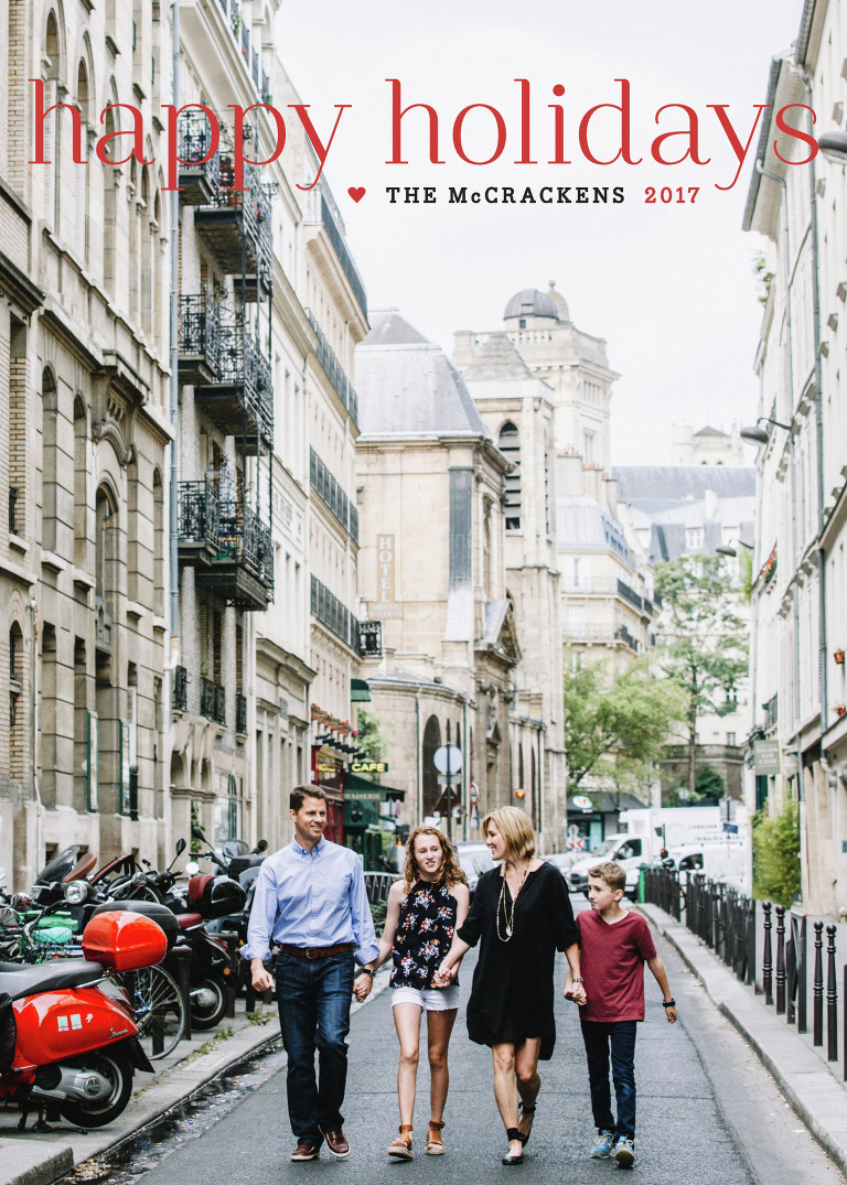 Charlotte NC Family Photographer Abbe McCracken and family in Paris, France - Our Family Holiday Card 2017