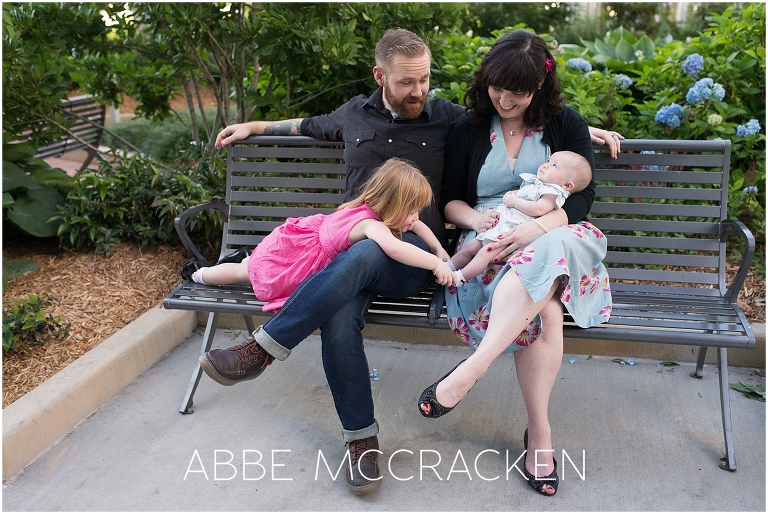 Candid, lifestyle family pictures in Uptown Charlotte