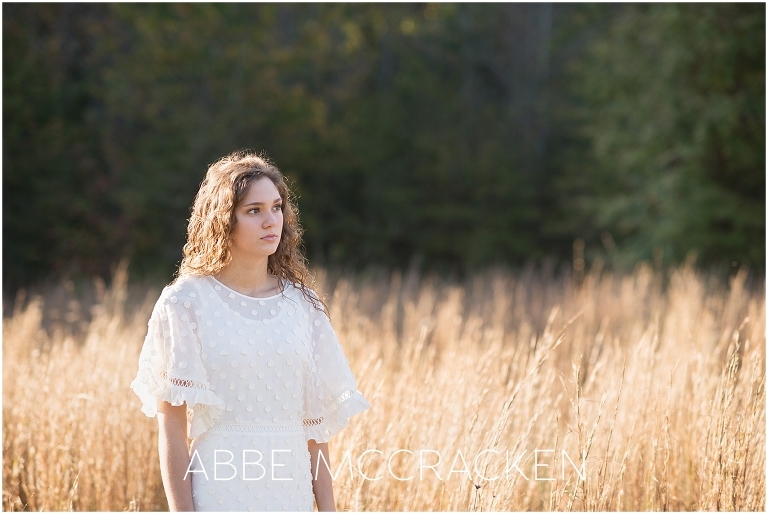 Natural senior pictures photographed in Marvin, NC