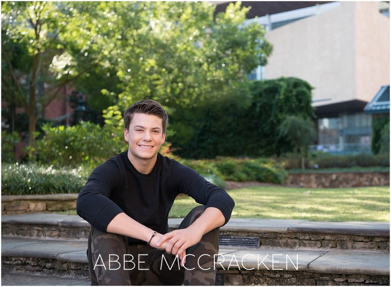 Urban Senior Portraits for guys in Uptown Charlotte