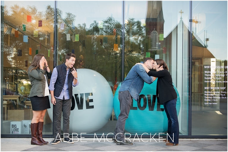 Funny family photo during an Urban Senior Portrait Session in Uptown Charlotte