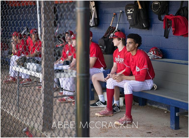Providence Day high school baseball team pre game