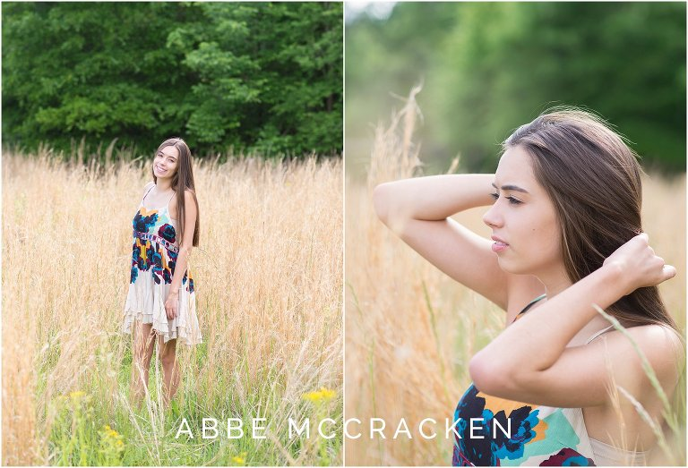 Natural senior portraits in wheat field