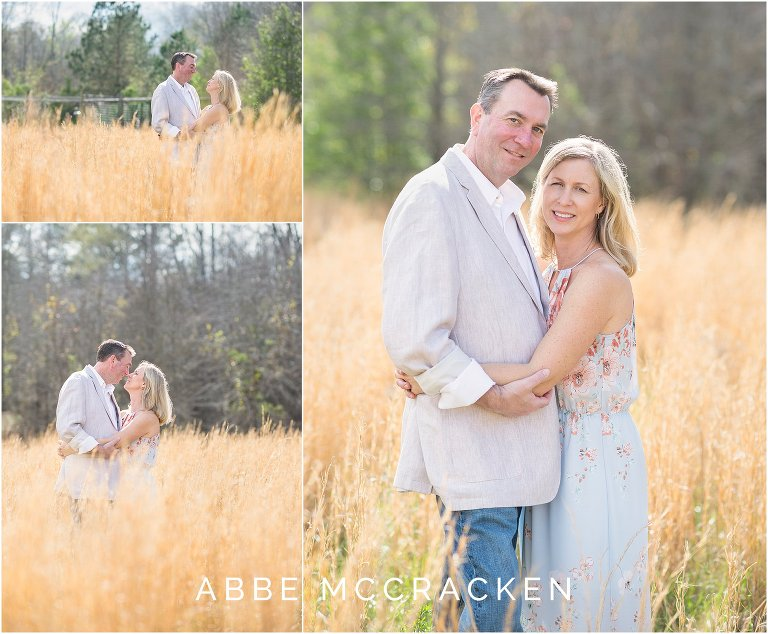 Images of mom and dad alone in a wheat field