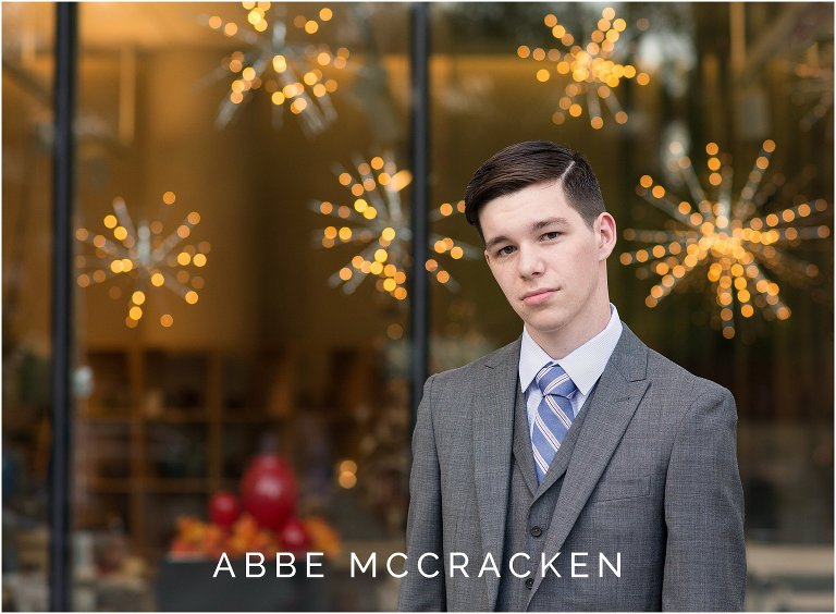Uptown Charlotte senior portraits for guys