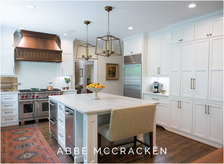 Renovated kitchen in Charlotte, NC designed by The Warrick Company