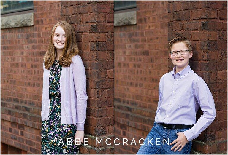 Vertical portraits of siblings