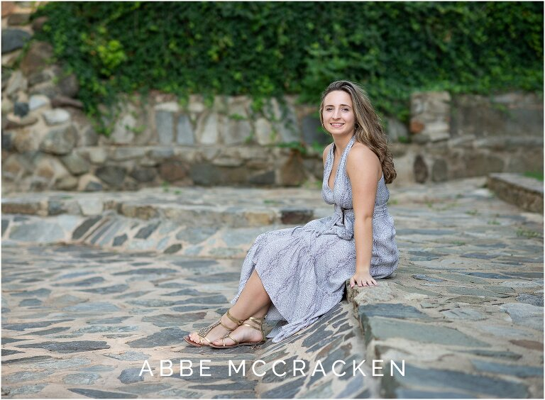 Senior photo in Charlotte's Independence Park
